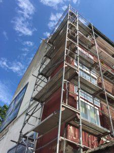 Gerüst gestellt Meisterbau - solides Handwerk im Rhein-Main-Gebiet